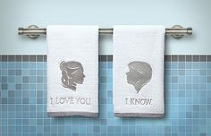 Star Wars Han and Leia Hand Towels!