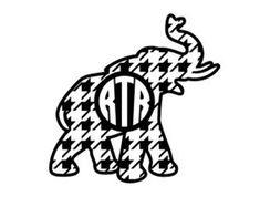 Houndstooth Elephant SVG Houndstooth SVG Elephant Monogram SVG Commercial Free Cricut Files Silhouette Files Digital Cut Files Alabama Football Team, Alabama Baby, Crimson Tide Football, Alabama Crimson Tide, College Football, Elephant Silhouette, Silhouette Clip Art, Silhouette Files, Alabama Elephant