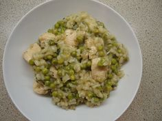 This Muslim Girl Bakes: Chicken, Spinach and Pea Risotto
