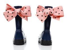 Kalosze dla dziewczynki z pięknymi  #kokardami Pink, Gummie