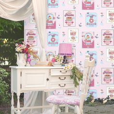 Coloroll Sugar Sweet Wallpaper in Pink  - http://godecorating.co.uk/coloroll-sugar-sweet-wallpaper-pink/