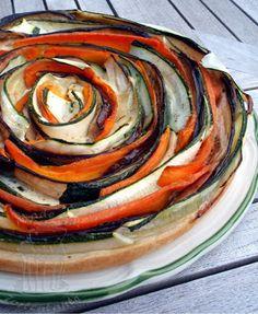 Gemuesetarte mit Zucchini und Auberginen