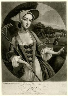 """""""June"""" - Print by Thomas Burford (1745)"""