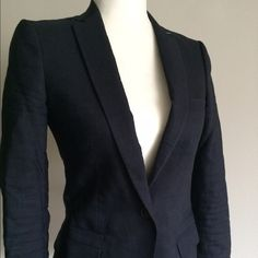 ❤️SALE ❤️Massimo Dutti blazer This navy blazer is in very good condition. I wore it with jeans, as it is very suitable for casual looks, but it can also be dressed up! 2 front pockets on sides, one button fastening,chest pocket and inside pocket...lots of pockets ...very nice and comfortable wool blended fabric. European size on the label is 36. Massimo Dutti Jackets & Coats Blazers