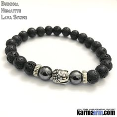 Yoga Bracelets-Mens-Womens-Beaded-Mala-Handmade-Luxury-Law-of-Attraction. Hematite.Black Lava. Buddha.