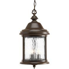 Progress Lighting Ashmore 18.75-in Antique Bronze Outdoor Pendant Light