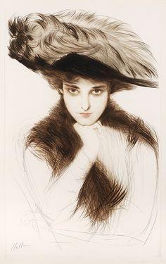 in-the-middle-of-a-daydream:      Paul César Helleu, Elégante de face, (~1895)