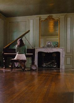 India Stoker at her piano