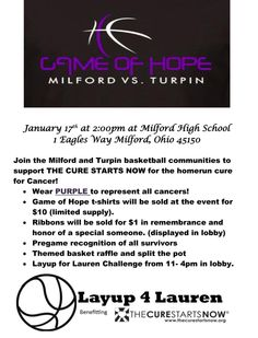 """""""Game of Hope"""" Lauren Hill, Beacon Of Hope, The Cure, High School, Game, Grammar School, High Schools, Gaming, Toy"""