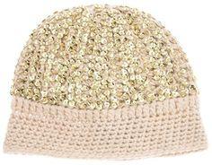 Madeleine Thompson Sequin beanie hat on shopstyle.com