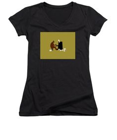 The Bear Play, Black Image, Things That Bounce, V Neck T Shirt, Beer, Stylish, Tops, Women, Fashion