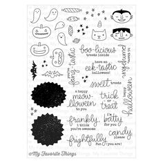 My+Favorite+Things+-+Clearly+Sentimental+-+Clear+Acrylic+Stamps+-+Frightfully+Fun+Halloween+at+Scrapbook.com