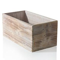 Ideal for indoor or outdoor wooden box centerpieces, these whitewashed woodland fir box planters come complete with a durable plastic liner making them ideal for use with soil or potted plants. This wooden centerpiece is also perfect for seamless arrangements of greenery, succulents, flowers an