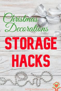 Christmas Storage Hacks | Christmas | Storage Hacks | Hacks | Christmas Ornament Storage | Christmas Lights Storage | Christmas Decorations | via @myhomebasedlife