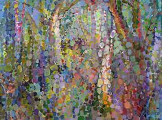 "Title:  ""Forest Abstraction #7""   2011     Oil on canvas  Size: 18"" wide x 24"" high"