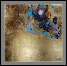 Stylish gold leaf abstract painting with oil paint and ink on art design canva diy tutorial Painting Inspiration, Art Inspo, Gold Leaf Art, Art Techniques, Sculpture Art, Outdoor Sculpture, Painting & Drawing, Diy Painting, Canvas Art