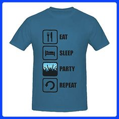 Eat Sleep Party Repeat Graphic Design Men's T-Shirt XX-Large
