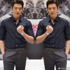 Bellisimo 💟 #KimWooBin Kim Woo Bin, Button Down Shirt, Men Casual, Shirt Dress, Mens Tops, Shirts, Dresses, Fashion, Korean Actors