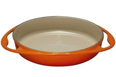 Le Creuset Enameled CastIron 934Inch Round Tarte Tatin Pan Flame ** Read more  at the image link. (This is an Amazon affiliate link)