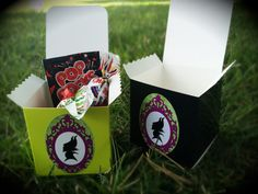 Maleficent Birthday Party Treat Boxes Candy Loot by WizysPartyShop, $11.50