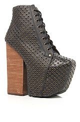 Jeffrey Campbell The Freda Eyelet Shoe in Black and Bronze. Get 20% off your purchase at misskl.com using Repcode: younglala