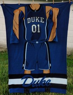Duke Basketball Sleeved Blanket Blue University Black White Shorts Jersey Arms #Northwest