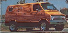 Custom Vans, the rolling room, the king of the road, the shaggin wagon. Van sitings are getting fewer and far between. Dodge Van, Chevy Van, Custom Van Interior, Old School Vans, Cool Old Cars, Bike Photo, Vintage Vans, Custom Vans, Mopar