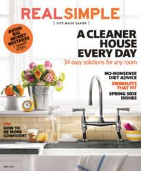 A CLEANER HOUSE EVERY DAY // Real Simple Magazine // May 1, 2012