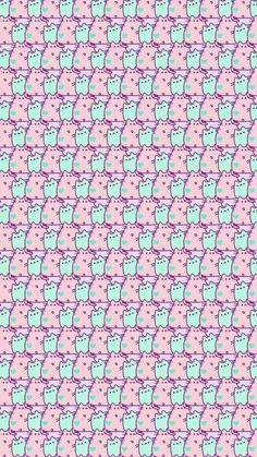 Ok well maybe not the best Cute Pastel Wallpaper, Cute Wallpaper For Phone, Cat Wallpaper, Kawaii Wallpaper, Cute Wallpaper Backgrounds, Cellphone Wallpaper, Pattern Wallpaper, Iphone Wallpaper, Gato Pusheen