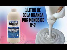 Cola Branca Caseira 1 Litro por Menos de R$2 - YouTube