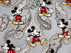 MIckey Mouse paisley