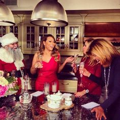 Mariah C Having A Pre Christmas Celebration With Hoda And Kathie Lee