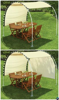 Suntracking PVC Canopy Shelter im Freien Pvc Canopy, Backyard Canopy, Garden Canopy, Canopy Outdoor, Pergola Patio, Pergola Plans, Outdoor Decor, Outside Canopy, Outdoor Living