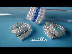 DIY - Anillo facil de perlas y tupis swarouski- Easy ring of pearls and swarovski tupis Jewelry Model, Wire Jewelry, Beaded Jewelry, Jewelry Rings, Jewelry Ideas, Diy Beaded Rings, Diy Rings, Ring Earrings, Beaded Earrings