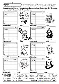 Dividendo Varias cifras y divisor 2 cifras 23 Material Didático, Math Division, Go Math, Hidden Pictures, Math Class, Math Worksheets, Interactive Notebooks, Teaching Math, Classroom