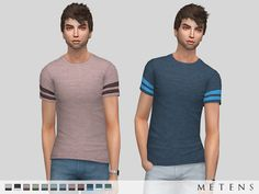 Comes in 12 colours.  Found in TSR Category 'Sims 4 Male Everyday'
