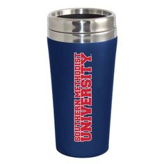 Southern Methodist University Mustangs Double Walled Travel Tumbler, Blue
