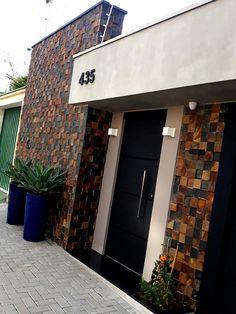 House Gate Design, Door Gate Design, Bungalow House Design, Modern House Design, Brick Design, Wall Design, Exterior Design, House Front, My House