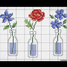123 Cross Stitch, Cross Stitch Heart, Cross Stitch Flowers, Cross Stitch Designs, Cross Stitch Embroidery, Hand Embroidery, Cross Stitch Patterns, Brick Stitch, Bead Crochet