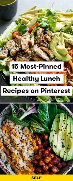 These easy, healthy lunch ideas are perfect to bring to school or work! These popular lunches are quick to make and a few are vegan/vegetarian-friendly! Make meal prep a breeze with these Pinterest-approved meals.
