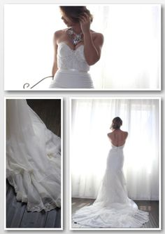 Wedding Dress Romantic Beaded and Lace Low Back