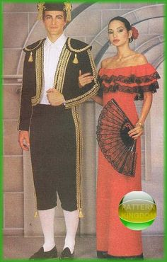 Butterick 3237 Spanish Bullfighter Toreador & Ladies Dress Patterns
