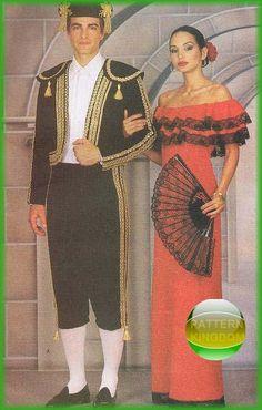 Butterick 3237 Spanish Bullfighter Toreador & Ladies Dress Patterns