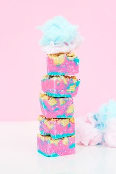 Loaded Cotton Candy Fudge | Community Post: 20 Magical Cotton Candy Desserts That'll Make You Feel Like A Kid Again
