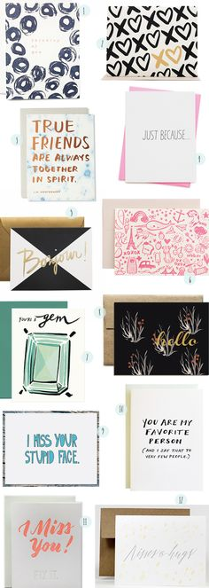 Oh So Beautiful Paper: Stationery A-Z: Just Because Cards Funny Greeting Cards, Funny Cards, Cute Cards, Diy Cards, Stationery Paper, Stationery Design, Postcard Design, Branding, Watercolor Cards