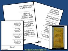 Foldables for the properties of addition and multiplication. ...