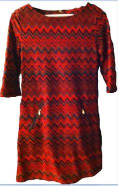 Vestido rojo-burdeos, aporta color este invierno...  En LM Boutique, en Errenteria