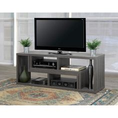 Shop Brassex Multi-configuration TV Stand at Lowe's Canada. Find our selection of tv stands at the lowest price guaranteed with price match. My Living Room, Small Living, Living Room Decor, Tv Unit Furniture, Living Room Furniture, Deco Tv, Old Tv Stands, Swivel Tv Stand, Tv Stand With Mount