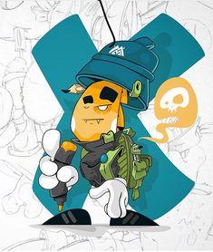 Graffiti Artwork, Graffiti Drawing, Mural Art, Simple Character, Spray Paint Cans, Graffiti Characters, Street Graffiti, Hip Hop Art, Kingsman