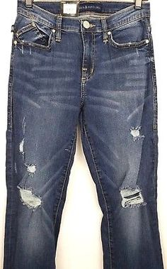 5f5969c05c Rock-amp-Republic-Kasandra-Womens-Size-8-BootCut-Stretch-Distressed-Jeans -NWT